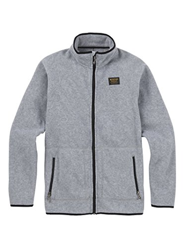 Lightweight Burton Fleece Jacket Mens (Burton Men's Ember Full-Zip Fleece Hoodie, Shade Heather, Large)