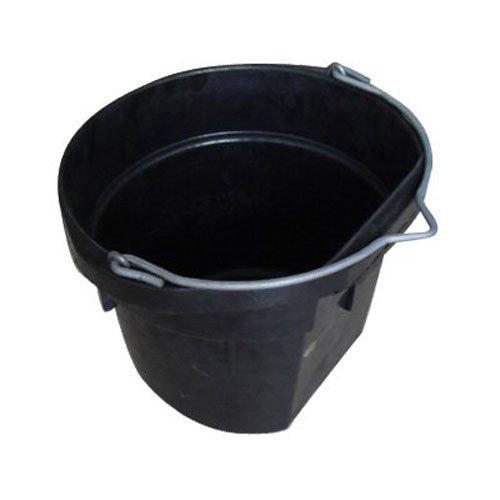 QINGDAO HUATIAN HAND TRUCK MR18QR/FSB-BLK Mr 18 quart Rubber Flat Bucket
