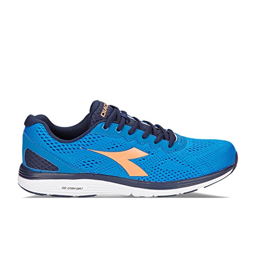 Diadora Men's Swan 2 Running Shoes C4943 - BLUE BELL-ORANGE FLAME MLBVnyx8