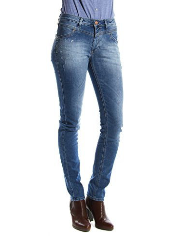 Carrera Jeans Jeans 752 pour femme, avec applications, tissu extensible, taille normale, taille normale 717 - Lavage Bleu Moyen (Stone Wash)