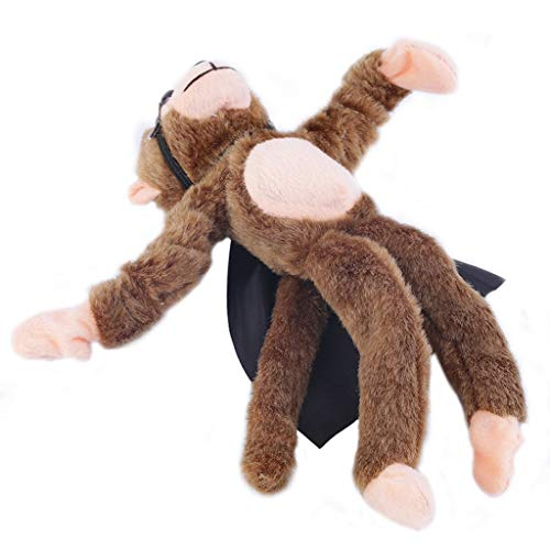 3Pcs Flingshot Slingshot Flying Screaming Monkey Flying Flingshot Slingshot Howler Monkey Plush Toys Screaming Surprise Toy [Ship from USA Directly] (Slingshot Monkey)