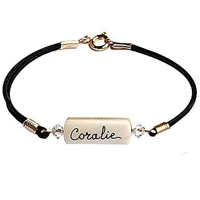 Yves Boucher Bracelet Enfant Personnalisé Nacre Cristal Taille1 16cm   Amazon.fr  Bijoux e9a35003406e