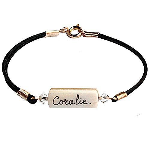 Yves Boucher Bracelet Enfant Personnalisé Prénom Rose Clair ... 30493be0068e