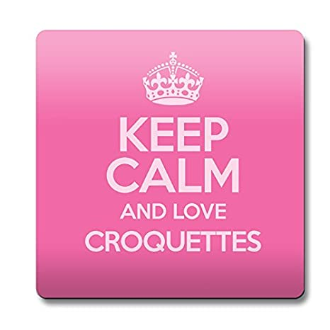 Rosa Keep Calm and Love croquetas imán color 2382: Amazon.es: Hogar