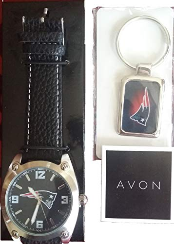 (Avon England Patriots Watch and Key Chain Set)