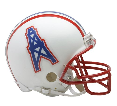 1996 Riddell Mini - Houston Oilers 1981-1996 Throwback Riddell Mini Football Helmet - New in Riddell Box