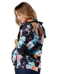 HAPPY MAMA. Womens Nursing Top Ribbon Back Tie Breastfeeding Access. 524p