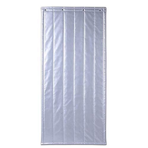 JIANFEI Door Curtain Winter Keep Warm Windproof PU,2 Colours 17 Size Customizable (Color : A-silver, Size : 80x180cm)