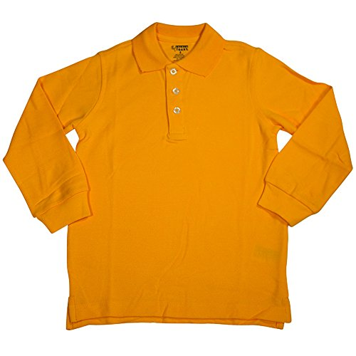 French toast little boys long sleeve pique polo shirt Burgundy polo shirt boys