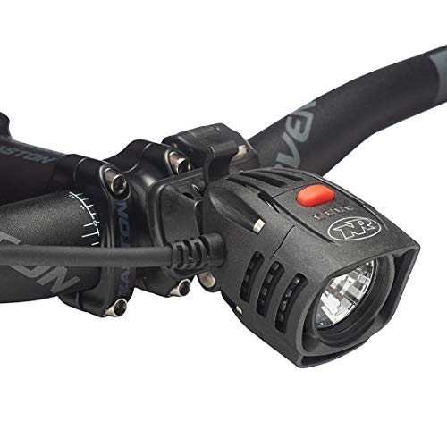 NiteRider Pro 1400 Race, High Performance Lightweight MTB Race Bike Light, 1400 Lumens of Max Output. Durable Bicycle Front Light. Excellent MTB Beam - Mount Niterider Helmet