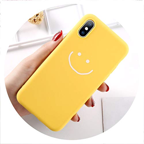 (No Buy No Bye Phone Case for iPhone 6 6s 7 8 Plus X XR XS Max Fashion Cartoon Love Heart Smiley Face Soft TPU for iPhone X Coque Case,T5,for iPhone XR)