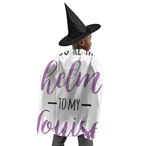 Thelma E Louise Halloween (Unisex Kids Polyester Hooded Cloak Cape You're The Thelma to My Louise Halloween Party Decoration Role Cosplay Costumes)