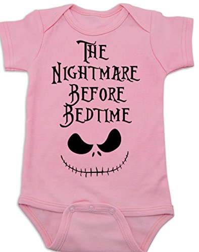 Vulgar Baby Bodysuit, Nightmare Before Bedtime, 6-12 MO, Pink]()