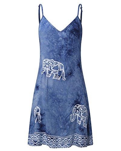 ZANZEA - Vestido - para mujer azul vaquero
