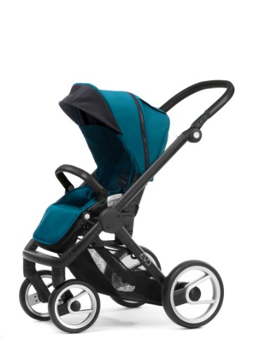 Mutsy Evo Stroller with Black Frame, Pacific by Mutsy