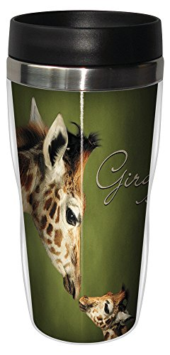 (Tree-Free Greetings 25812 Parent and Child Giraffe Sip 'N Go Stainless Lined Travel Mug, 16-Ounce)