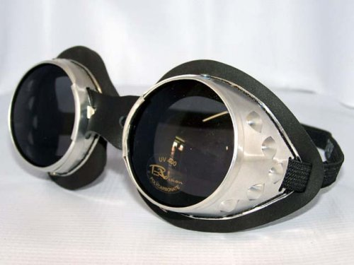 Unique Retro Vintage Style Sunglasses & Eyeglasses Classic Round Lens Moto Goggles Motorcycle MX Vespa Jeep Motorbike Scooter Interchangeable Lenses Steampunk Burning $24.95 AT vintagedancer.com