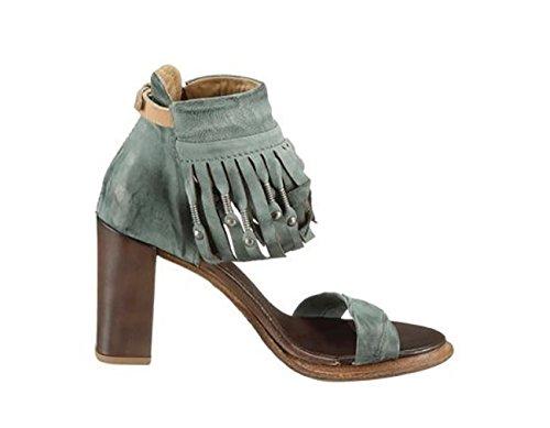 Sandalias para S de A 42 de 98 Piel azul azul mujer vestir aBn4Rx