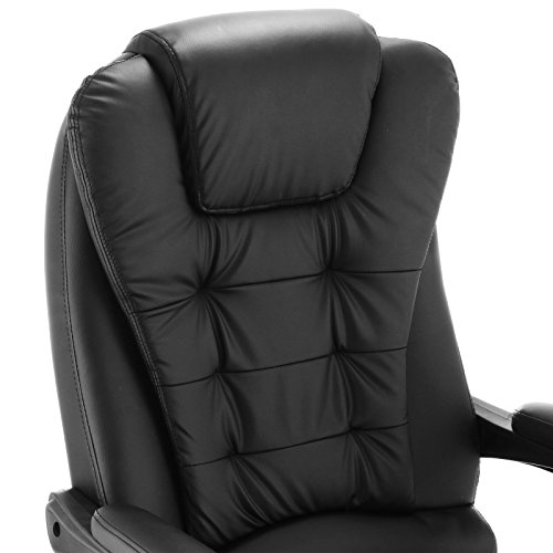 bestequip executive recliner swivel office chair pu leather office
