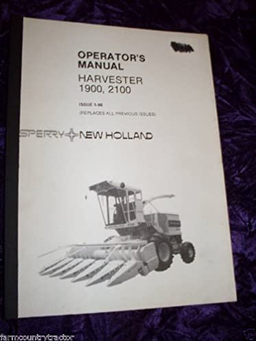 new holland 1900 2100 harvester oem oem owners manual new holland rh amazon com Combine Harvester Case Harvester