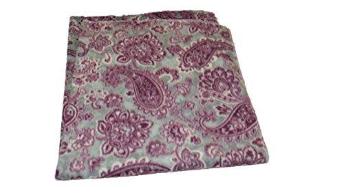 Jojo's Boutique Gray Paisley Fleece Blanket 30x30