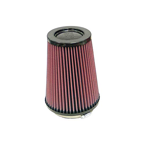 K&N RP-4980 Universal Clamp-On Air Filter: Round Tapered; 4 in (102 mm) Flange ID; 6.5 in (165 mm) Height; 5.375 in (137 mm) Base; 4 in (102 mm) Top