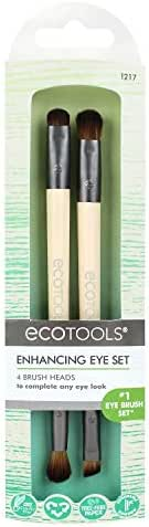 EcoTools Eye Enhancing Duo Brush Set Define Blend & Smudge Eyeshadow & Liner