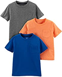 Toddler Boys 3-Pack Solid Pocket Short-Sleeve Tee Shirts