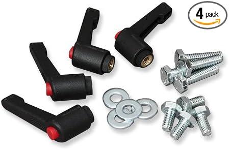 2 each 3//8 16 Push Button Ratchet Lever Adjustable Handle Knob PBRLF-3//8X2