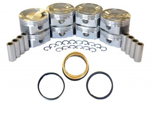 (Diamond Power Pistons w/Rings works with Nissan Titan Armada Pathfinder Infiniti QX56 5.6L VK56DE DOHC V8 VK56DE)
