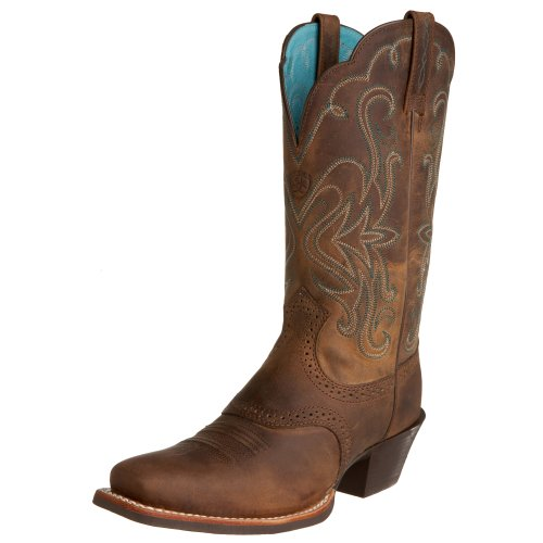 Ariat Womens Legend Western Cowboy Boot Distressed Brown