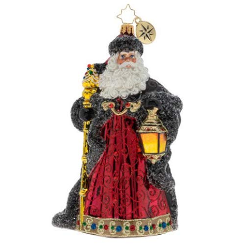 Christopher Radko Hand-Crafted European Glass Christmas Decorative Figural Ornament, Ebony Clad Mr. Claus from Christopher Radko