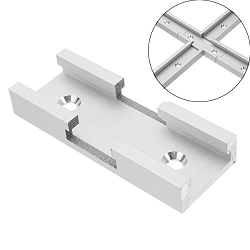 Graven 80mm T-Track Connector T-Slot Miter Track Jig Fixture Slot Connector for Router Table (Router Plunge Type)