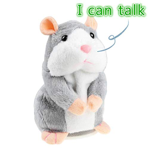 Yitrend Talking Hamster, Repeats What You Say Electronic Pet Talking Plush Toy Halloween Christmas Xmas Gift for Kids Children -
