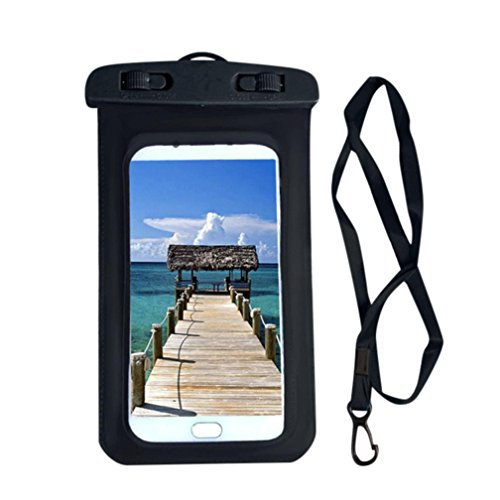 Price comparison product image Fheaven (TM) Waterproof Phone Pouch Summer Swimming Beach Dry Bag Case Cover Holder For Cell Phone with Strap (Black)