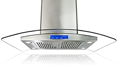 "AKDY 30"" European Style Az668is2-B75 Stainless Steel Island Mount Range Hood Touch Control"