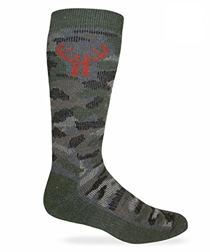 Huntworth 2 Pack Boy's Camo Wool Blend Boot Sock ()