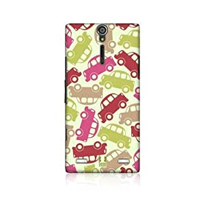 Car Vehicular Pattern Snap-on Back Case Cover For Sony Xperia S Lt26i