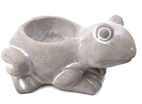 Stoneware Garden Frog Tealight Votive Candle Holder 4.5