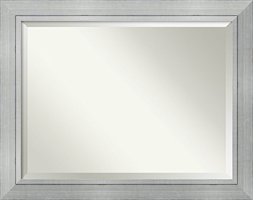 Image Lrg (Amanti Art Wall Mirror Romano Silver: Outer Size 47 x 37 OS Lrg 47x37, Oversize Large-48 x 38)