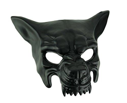 Black Wolf Half Mask Adult Mens Animal Angry Dog Venetian Costume Accessory