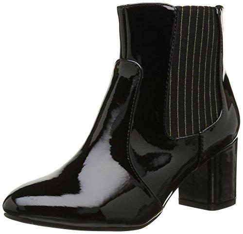 Initiale Damen Spell Stiefel & Stiefeletten Schwarz - Noir (Vernis Noir)