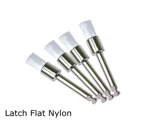 Prophy Brushes - Dental White Nylon Polishing Polisher Prophy Brush Flat Type 100pcs
