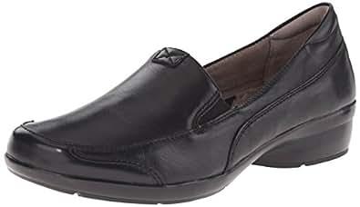 Naturalizer Women's Channing Slip-On Loafer, Black, 6.5 WW US