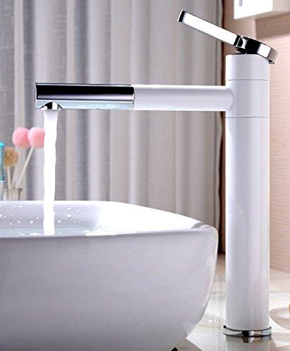 LSRHT Waschtischarmatur Wasserhahn Armatur Badezimmer Waschbecken Mischbatterie Kupfer Waschen Gesicht einen erhöhten Tb-02