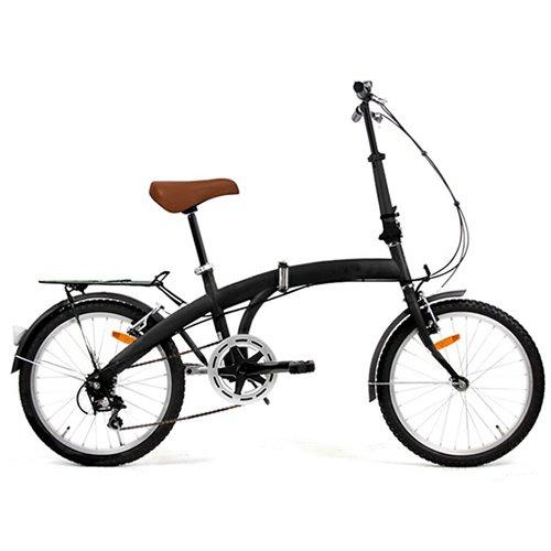 20インチ シンプル折り畳み自転車 ブラック (3段変速) TMN2003AW-SBK B00451AT4W