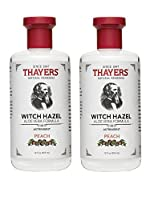 Thayers Peach Witch Hazel Astringent with Aloe Vera, 12 oz. (Pack of 2)