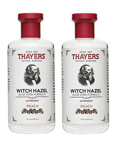 (Thayers Peach Witch Hazel Astringent with Aloe Vera, 12 oz. (Pack of 2))