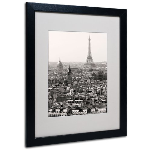 Paris by Pierre Leclerc Canvas Wall Artwork, Black Frame, 16 by 20-Inch ()