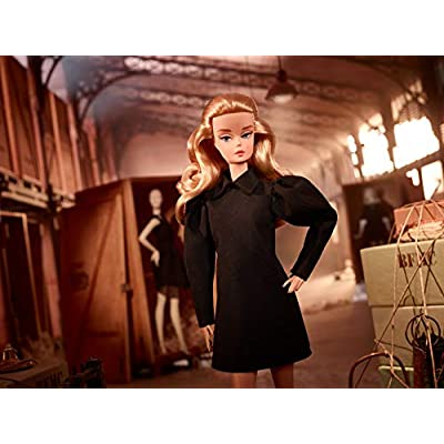 Barbie Fashion Model Collection Best in Black Doll, Approx..12-in Signature Doll with Silkstone Body Wearing Black Dress and Accessories, with Certificate of Authenticity: Toys & Games